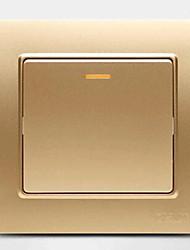 interrupteur mural en acier intégré en acier champagne un double interrupteur de commande