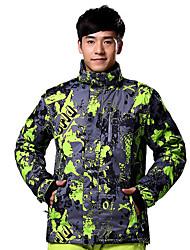Skikleidung Ski/Snowboard Jacken Herrn Winterkleidung Baumwolle / Polyester Sport Kleidung für den Winter warm halten / Windundurchlässig
