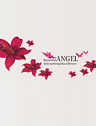 Beautiful Angel Blossoming Like a Flower Wall Stickers DIY Removable Living Room Wall Decals