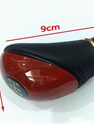 botão de troca manual couro automotivo haste de engrenagem