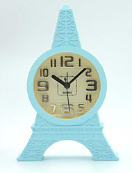 (Random color)The Eiffel Tower contracted style that occupy the home office desk clock Students mini clocks