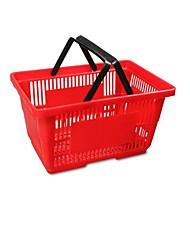 super-panier en plastique paniers panier supermarché shopping panier (grande vente rouge 480 * 330 * 260)
