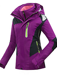 GQY® Ski Wear Ski/Snowboard Jackets Women's Winter Wear Polyester Patchwork Winter Clothing Thermal / Warm / Windproof / WearableCamping