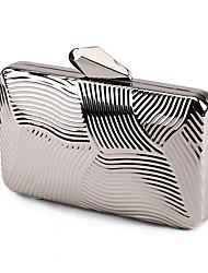L.west Women Elegant High-grade Geometry Stereo Tin Box Evening Bag