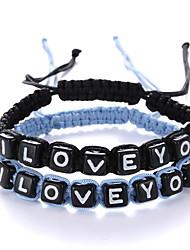 Retro Fashion Color Letters Adjustable Bracelet