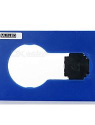 mlsled® 0.5W portátil levou cartão de bolso lâmpada luz noite quente 6500k branco 40lm SMD 3014 (cores sortidas)