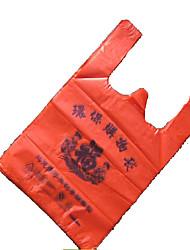 Tongcheng Einweg-rote Weste Taschen Hersteller individuelle Druck bequemer Beutel Supermarkt Weste Tasche 30 * 46