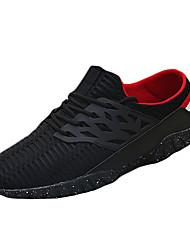 Femme-Décontracté-Noir / Blanc / Gris-Talon Plat-Confort-Sneakers-Tulle