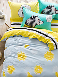 Lovely dog brief style 4piece bedding sets print duvet cover Sets 100% Cotton Bedding Set Queen Size