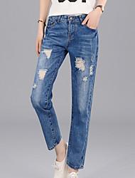Women's Solid Blue Jeans / Harem Pants,Simple