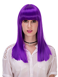 púrpura recta lolita wig.wig pelo, peluca de Halloween, peluca de color, peluca de la manera, peluca natural, peluca cosplay.