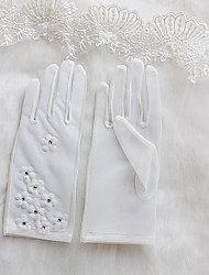 Wrist Length Fingertips Glove Knit Bridal Gloves Spring Summer Fall Winter Floral