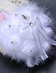 Weiß Elfenbein 1 Kristall Chiffon