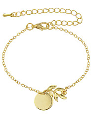 Gold Color Plain Metal Chain Bracelets