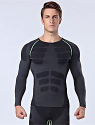 Esportivo Camisa para Ciclismo Homens Manga Comprida Moto Respirável / Mantenha Quente / Isolado / Confortável BlusasNailom / Náilon