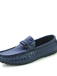Men's Loafers & Slip-Ons Spring / Summer / Fall Round Toe PU Outdoor / Casual Low Heel Others Black