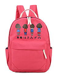 Women Couples Vintage Japanese Cartoon Canvas Sports Casual  Backpack School  Travel Bag