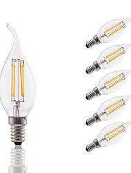 3 E14 Ampoules à Filament LED B 4 COB 300 lm Blanc Chaud Décorative AC 100-240 V 6 pièces