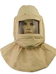 capacete de segurança com detonadores cap cobertura de lona máscara de areia, de jato