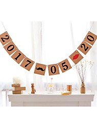 Personalised Save The Date Wedding Birthday Anniversary Date Banner Mustache Lips Wedding Sign