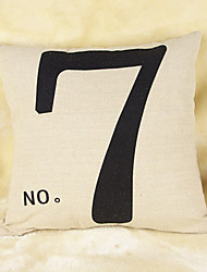 NO 7 Cotton/Linen Pillow Cover