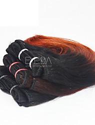 neue 3pcs / set ombre menschlichen reinen kurze Haare weben nassen wellig ombre 2 Klangfarbe # 1b / 35 8inch 6 Farben availabe