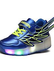 LED's Shoes Boy's Flats Summer Roller Skate Shoes PU Casual Flat Heel LED Black / Royal Blue / Fuchsia / Orange Others