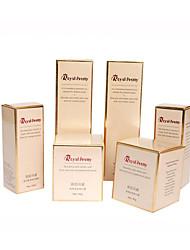caixa de papel branco, ouro impressão e prata papelão, caixas de cor de moda, caixas de cosméticos (um pacote de 10)