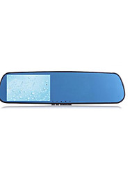 azul espelho retrovisor gravador de 1080p visão hd noite antes e depois da ampla visão