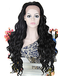 Synthetic Lace Front Wig Natural Black Long Wavy Wigs Synthetic Glueless Wigs For Black for Women