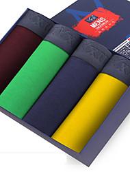 SHINO® Algodão / Fibra de Carbono de Bamboo Boxer Curto 4 / caixa-F005-G