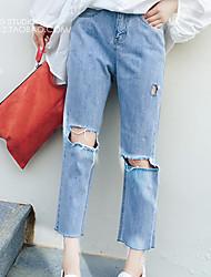 Pantalon Aux femmes Short / Jeans simple Coton Non Elastique