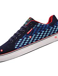 Da uomo-Sneakers-Sportivo-Comoda-Piatto-Scamosciato-Nero Blu Rosso