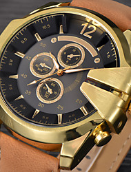 Hombre Reloj Deportivo / Reloj Militar / Reloj de Vestir / Reloj de Moda / Reloj de Pulsera Cuarzo Calendario / Punk Piel BandaCosecha /