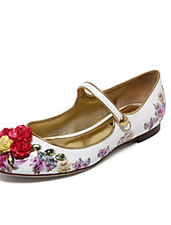 Women's Shoes  Spring / Summer / Fall Comfort / Ballerina / Round Toe Flats  / Dress / Casual Flat Heel Flower (Cowhide)