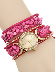 Women's Fashion Watch Bracelet Watch Quartz / Imitation Diamond Leather Band Casual Multi-Colored Brand