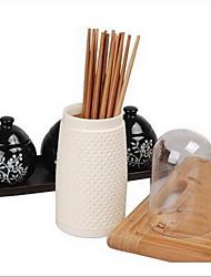 1 Cozinha Cozinha Plástico Prateleiras e Suportes 8.5*8.5*25cm