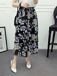 De las mujeres Pantalones Chinos-Simple Microelástico-Acrílico