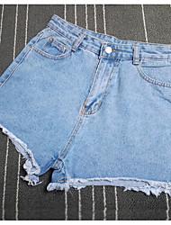 Women's Floral Blue Shorts Pants,Street chic