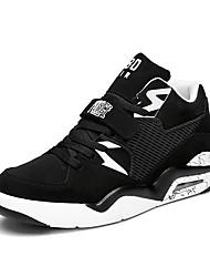 Femme-Décontracté-Bleu / Blanc / Noir et blanc-Talon Plat-Confort-Sneakers-Tulle
