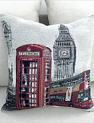 Pillows case cover UK London phone booth bus model wedding gift cotton linen cushion Home Decorative  45*45