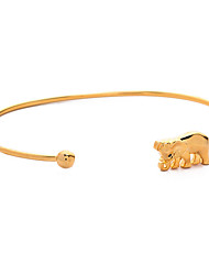 Fashion Bangles For Women 2016 Vintage Elephant Cuff Bracelets Gold Bangle Metal Bracelet Men Jewelryl
