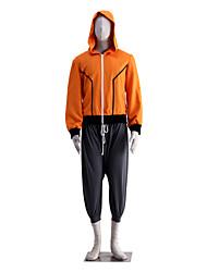 Inspirado por Naruto Naruto Uzumaki Animé Disfraces de cosplay Trajes Cosplay Un Color Naranja / Gris Sin MangasAbrigo / Pantalones