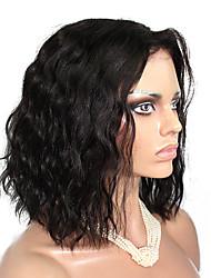 10-18 Zoll 10a grade natürlichen Welle brasilianisches reines Haar volle Spitzeperücken kurze Bob menschliches Haar