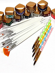 44 Sets Shining Painting Pen Phototherapy Pens