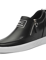 Chaussures femmes synthétiques barboteuses printemps / été / automne / hiver baskets plate-forme athlétique / casual lacets noir