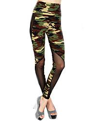 Femme A Motifs Legging,Carbone de Bambou