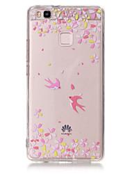 Для Кейс для Huawei / P9 / P9 Lite / P8 Lite Ультратонкий / Прозрачный / Рельефный / С узором Кейс для Задняя крышка Кейс дляМультяшная