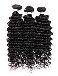 Tejidos Humanos Cabello Cabello Brasileño Ondulado Medio 3 Piezas los tejidos de pelo
