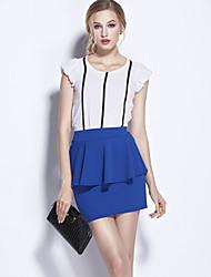 Damen Röcke - Sexy / Einfach Mini Polyester Mikro-elastisch
